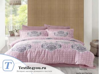 Постельное белье ALTINBASAK SAYKA Сатин (Евро) - Розовый