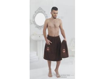 Набор для сауны мужской KARNA PAMIR  - Коричневый