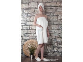 Набор для сауны женский KARNA GISELL - Кремовый