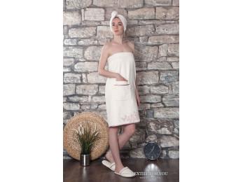 Набор для сауны женский KARNA DELBIN - Кремовый