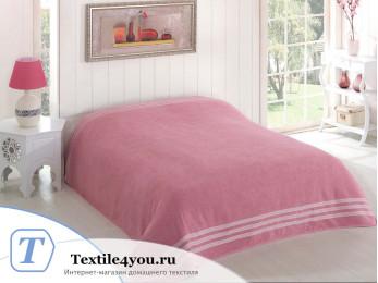 Простынь махровая KARNA PETEK (200x220 см) - Розовый
