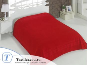 Простынь махровая KARNA REBEKA (200x220 см) - Красный