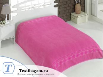 Простынь махровая KARNA REBEKA (200x220 см) - Розовый
