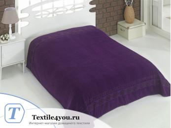 Простынь махровая KARNA REBEKA (200x220 см) - Фиолетовый