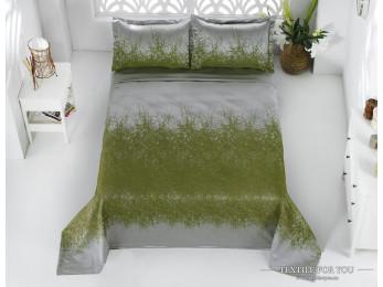 Покрывало KARNA FLORINA Зеленый -  (260x260 см) + 2 наволочки
