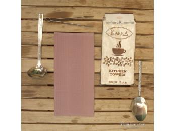 Салфетки вафельные KARNA MEDLEY - 40x60 см (2 шт.) Грязно-Розовый