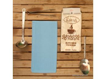 Салфетки вафельные KARNA MEDLEY - 40x60 см (2 шт.) Голубой