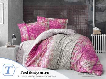 Постельное белье RANFORCE NEON CADRADO (1,5 спальный) - Фуксия