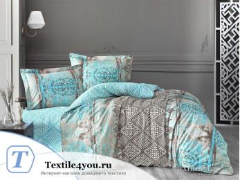 Постельное белье RANFORCE NEON CADRADO (1,5 спальный) - Бирюзовый