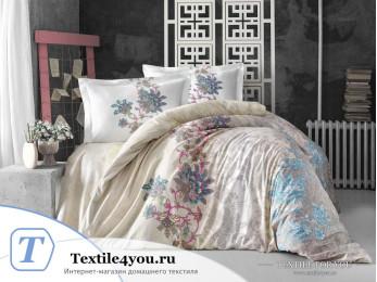 Постельное белье RANFORCE NEON ESMERALDA (1,5 спальный) - Кремовый