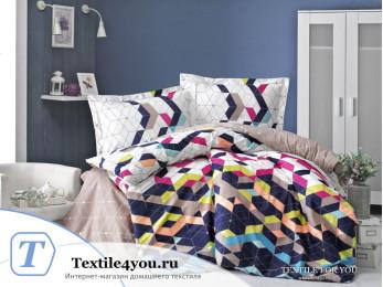 Постельное белье RANFORCE NEON ORIA (1,5 спальный) - Синий