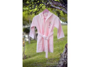 Халат детский бамбуковый PUPILLA KIDS (6-8 лет) - Розовый