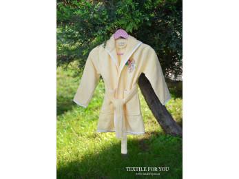 Халат детский бамбуковый PUPILLA KIDS (3-5 лет) - Желтый