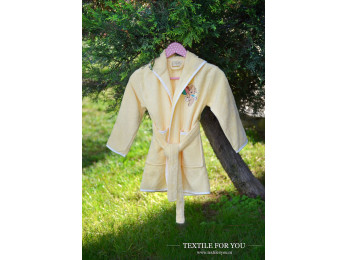 Халат детский бамбуковый PUPILLA KIDS (6-8 лет) - Желтый