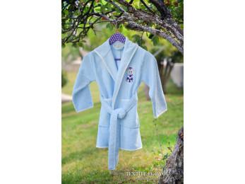 Халат детский бамбуковый PUPILLA KIDS (6-8 лет) - Голубой
