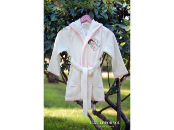 Халат детский бамбуковый PUPILLA KIDS (6-8 лет) - Кремовый