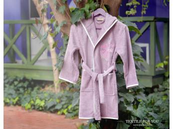 Халат детский бамбуковый PUPILLA YOUNG (9-11 лет) - Светло-лавандовый