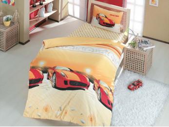 Детское постельное белье RANFORCE SPEED TIME (1.5 спальное) - Красный