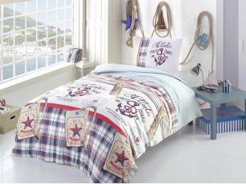Детское постельное белье RANFORCE ATLANTIC (1.5 спальное) - Голубой