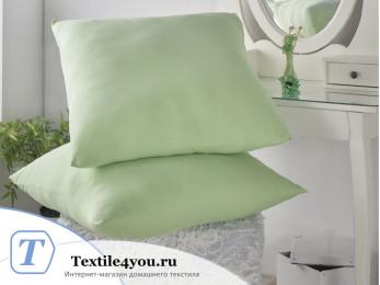 Наволочка на молнии KARNA ACELYA трикотажная (70x70 см - 2 шт.) - Зеленый