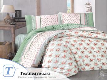Постельное белье RANFORCE AHSEN (Евро) - (50x70 см  - 2 шт.) - Зеленый