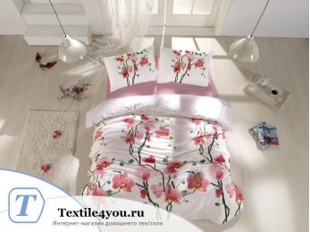 Постельное белье RANFORCE BLOOM (Евро) - (50x70 см  - 2 шт.) - Розовый