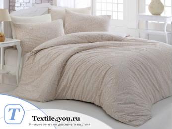 Постельное белье RANFORCE ROZI (Евро) - (50x70 см - 2 шт.) - Кремовый