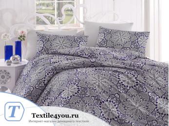Постельное белье RANFORCE ROZI (Евро) - (50x70 см - 2 шт.) - Синий
