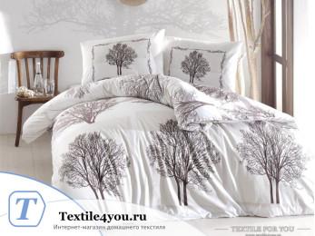Постельное белье RANFORCE TREE (Евро) - (50x70 см  - 2 шт.) - Коричневый