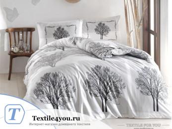 Постельное белье RANFORCE TREE (Евро) - (50x70 см  - 2 шт.) - Серый