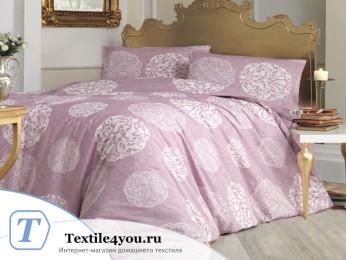 Постельное белье RANFORCE BELLO (Евро) - (50x70 см  - 2 шт.) - Розовый