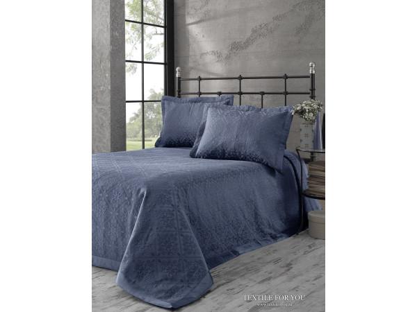 Покрывало KARNA AFRODIT Синий -  (180x260 см) + 2 наволочки