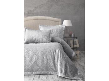 Покрывало KARNA AFRODIT Серый -  (260x260 см) + 2 наволочки