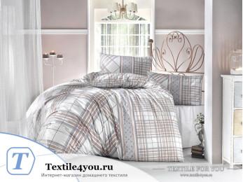 Постельное белье RANFORCE VIOLA (1,5 спальный) - (50x70 см - 1 шт.) - Коричневый