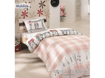 Постельное белье RANFORCE MALDINE (1,5 спальный) - (50x70 см - 1 шт.) - Розовый