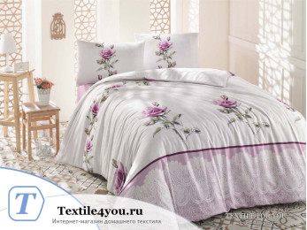 Постельное белье RANFORCE ALMILA (1,5 спальный) - (50x70 см - 1 шт.) Розовый