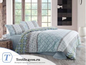 Постельное белье RANFORCE SANTANA (1,5 спальный) - (50x70 см - 1 шт.) - Голубой