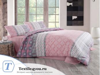 Постельное белье RANFORCE SANTANA (1,5 спальный) - (50x70 см - 1 шт.) - Розовый