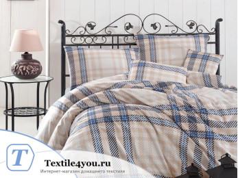 Постельное белье RANFORCE ALIZ (1,5 спальный) - (50x70 см  - 1 шт.) - Бежевый