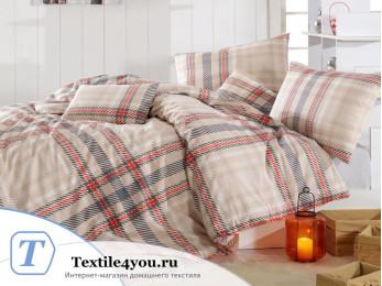 Постельное белье RANFORCE ALIZ (1,5 спальный) - (50x70 см  - 1 шт.) - Коричневый