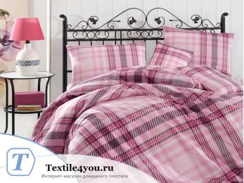Постельное белье RANFORCE ALIZ (1,5 спальный) - (50x70 см  - 1 шт.) - Розовый