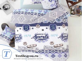 Постельное белье RANFORCE ATHLETIK (1,5 спальный) - (50x70 см  - 1 шт.) - Голубой