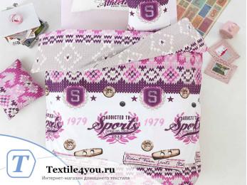 Постельное белье RANFORCE ATHLETIK (1,5 спальный) - (50x70 см  - 1 шт.) - Фиолетовый