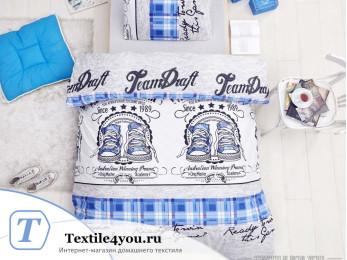 Постельное белье RANFORCE MOLLY (1,5 спальный) - (50x70 см - 1 шт.) Голубой
