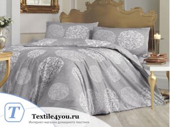 Постельное белье RANFORCE BELLO (1,5 спальный) - (50x70 см - 1 шт.) - Серый