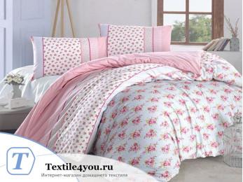 Постельное белье RANFORCE AHSEN (1,5 спальный) - (50x70 см - 1 шт.) Розовый