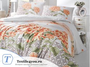 Постельное белье RANFORCE LARIN (1,5 спальный) - (50x70 см - 1 шт.) Оранжевый