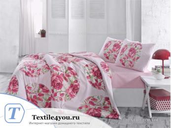 Постельное белье RANFORCE ADRINA (1,5 спальный) - (50x70 см - 1 шт.) - Красный