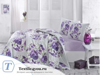 Постельное белье RANFORCE ADRINA (1,5 спальный) - (50x70 см - 1 шт.) - Сиреневый