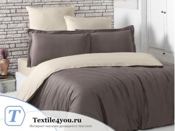 Постельное белье KARNA LOFT двухстороннее (1,5 спальный) Коричневый-Бежевый